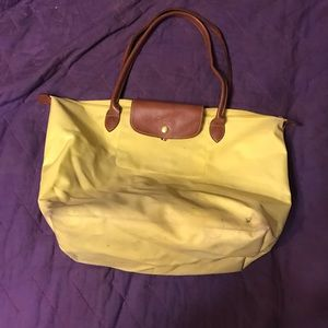 Authentic yellow longchamp large